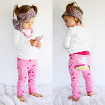 Unicorn Rainbow Pink Leggings