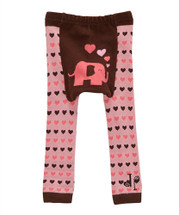 Pink & Brown Lady Elephant Leggings