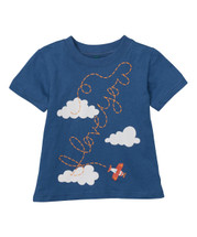 Red Plane Cloud Tee