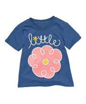 Navy 'Little' Flower Tee