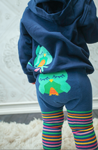Navy Owl cotton Leggings