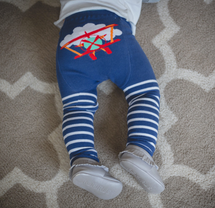 Red Plane Stripe Leggings