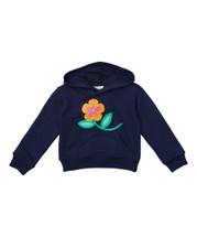 Navy Flower Hoodie