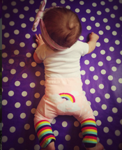Pink Rainbow Cloud Leggings