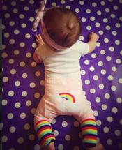 Pink Rainbow Cloud Leggings