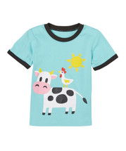 Cow - Blue Shirt