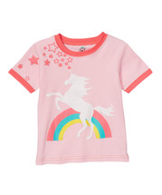 Unicorn Rainbow Pink Tee