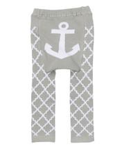 Gray Quatrefoil Anchor Leggings