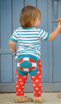 Lifesaver Red and Blue Leggings