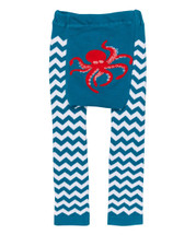 Teal Chevron Octopus Leggings