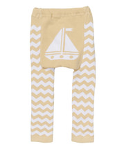 Tan Sailboat Leggings