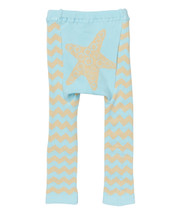 Tan Chevron Starfish Leggings