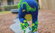 Dino Hungry Blue Leggings