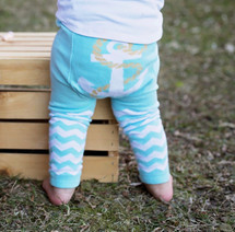 Blue Anchor Cotton Leggings