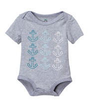 Anchor Multi Colored Gray Bodysuit