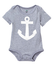 Grey & White Anchor Bodysuit