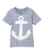 Gray Anchor Tee