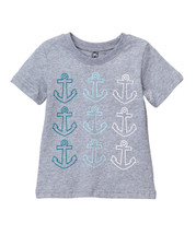 Anchor Multi Colored Gray  Tee
