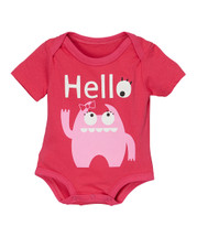 Pink Monster 'Hello' Bodysuit