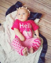 Pink Monster 'Hello' Bodysuit