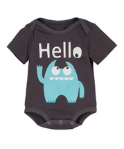 Blue Monster 'Hello' Bodysuit