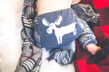 Grey Fair Isle Moose Leggings