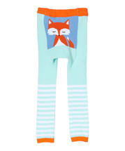 Turquoise Stripe Woodland Fox Leggings