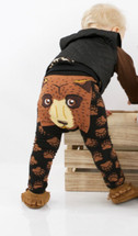 Brown Bear Face Leggings