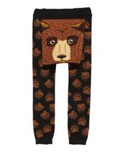 Brown Bear Face Leggings