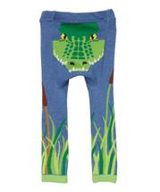 Blue Alligator Leggings