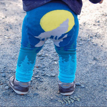 Navy Howling Wolf Leggings