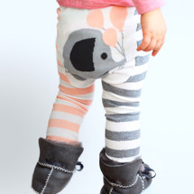 Pink Elephant Balloon Stripes cotton legging