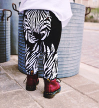 Zebra Face Leggings
