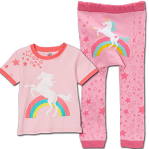 Pink Rainbow Unicorn Leggings and matching Shirt