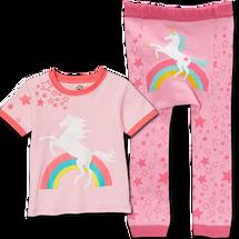 Pink Rainbow Leggings and matching Shirt