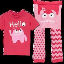 Pink Monster Leggings and matching Shirt