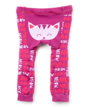 Purple Cat Meow Leggings
