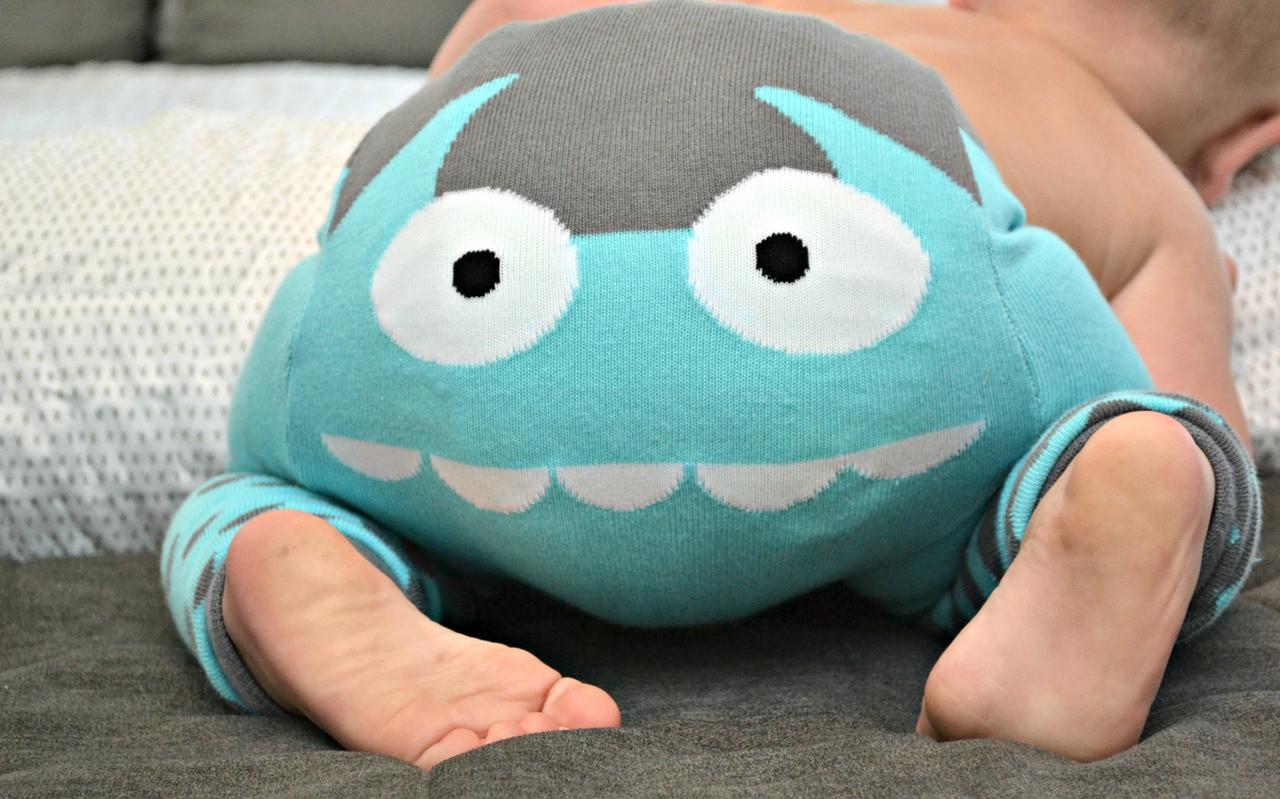 Blue Monster Cotton Legging