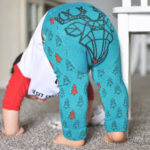 Reindeer Geo Green Leggings