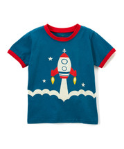 Rocketship Blue Shirt