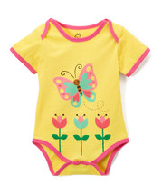 Yellow Butterfly Bodysuit