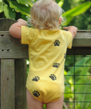 Panda Bear yellow bodysuits