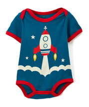 Rocketship Blue Bodysuit