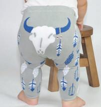 Southwestern Gray Steer Legging
