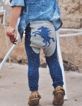 Southwestern Celestial Pony Cotton Leggings