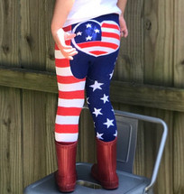 America Flag Leggings