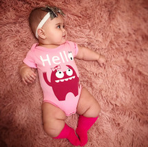 Light Pink Monster Bodysuit