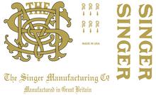 Singer 31- Monogram Decals for Commercial Restorations
