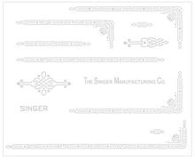 Singer 221 Featherweight AD Series Restoration Decals Silver