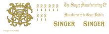 Singer 91-K5  Decals for Restorations 40892